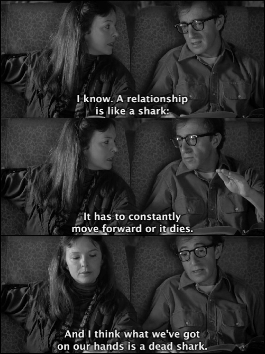 "Scene from the movie ""Annie Hall"""